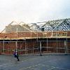 Thumbnail: Construction of new school hall in 2005.