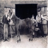 Thumbnail: The blacksmiths shop in the High Street, circa 1900.
