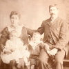 Thumbnail: Formal portrait of Charles Ringham and Family: Caroline, Lawrence and Horace.