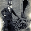 Thumbnail: Percy Ward circa 1935 with his bicycle