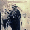 Thumbnail: Joan, Neville, Annie, Betty & Frederick Shrimpton at the seaside 1924