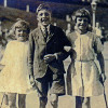 Thumbnail: Betty, Neville & Joan Shrimpton at the seaside 1925