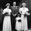 Thumbnail: Wedding photo at St Mary's Church, Louis Ward with bridesmaids